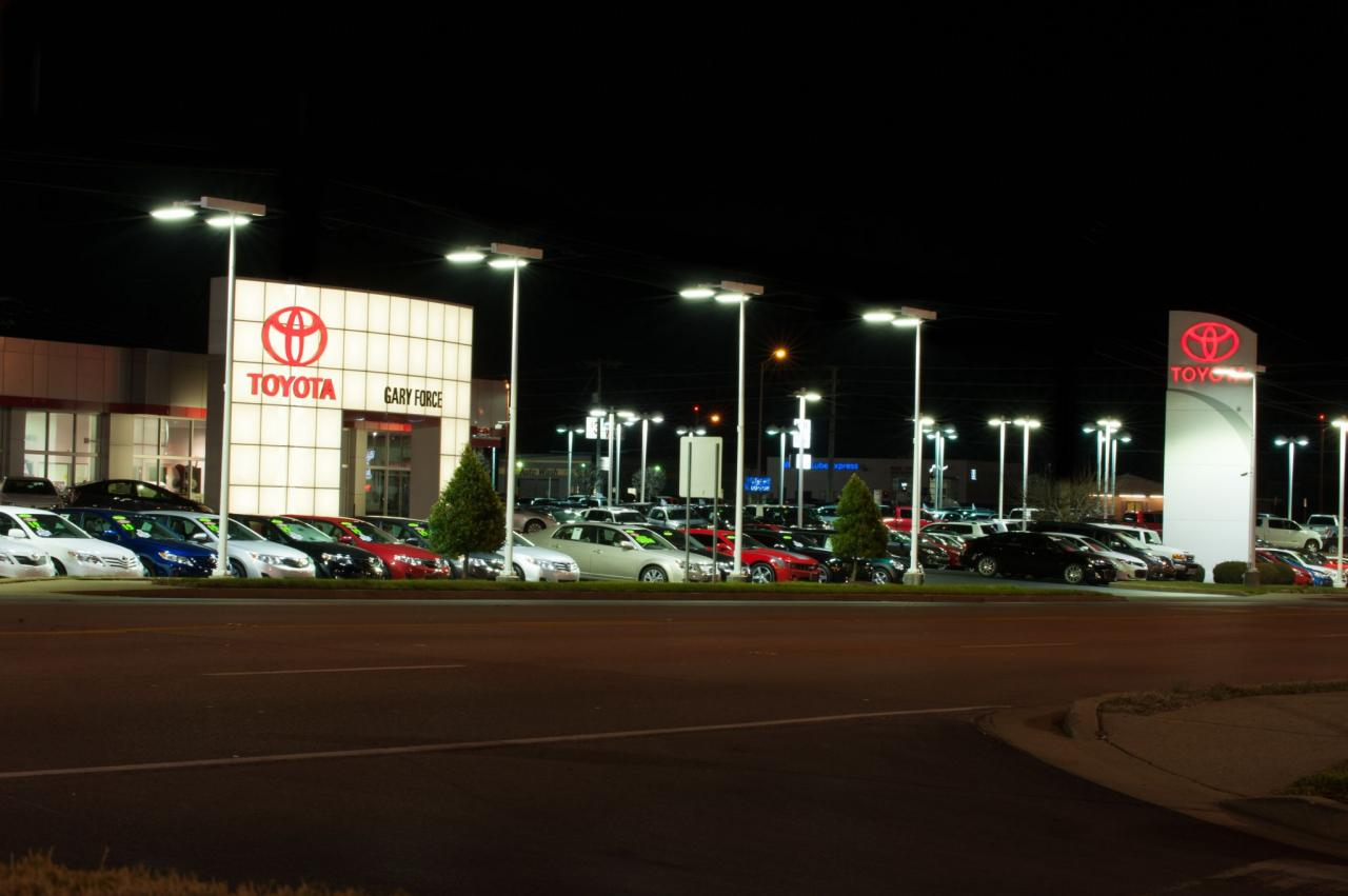High-Quality LED Luminaires Make Dramatic Improvement at Car Dealership